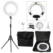 "Yidoblo FS 480II 5500K 바이오 컬러 카메라 사진/스튜디오/전화/비디오 라이트 18 ""480 LED 링 라이트 LED 램프 + 2M 삼각대 + 소프트 가방 키트"