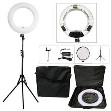 Yidoblo FS 480II 5500K بيو كاميرا ملونة صور/استوديو/الهاتف/الفيديو الضوئي 18 480 LED مصباح مصمم على شكل حلقة LED مصباح 2 متر ترايبود طقم حقيبة لينة
