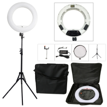"Yidoblo White FS-480II 5500K Bio-color Camera Photo/Studio/Phone/Video 18"" 480 LED Ring Light LED Lamp+ 2M tripod +Soft bag Kit"