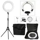 Yidoblo blanc FS 480II 5500 K Bio couleur caméra Photo/Studio/téléphone/vidéo 18 ''480 LED anneau lumière lampe à LED + 2 M trépied + sac souple Kit