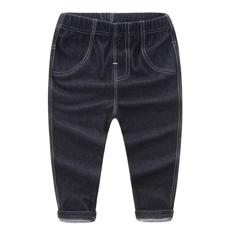 Новинка 2017 года Штанишки для малышей классная детская стиральная джинсовые штаны джинсы для малышей универсальные брюки детская одежда 2 Ц...