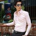 2015 Hot Sale Novelty New Mens Shirts Casual Slim Fit Stylish Mens Dress Shirts Men Fashion White and Black Short Sleeve Shirts
