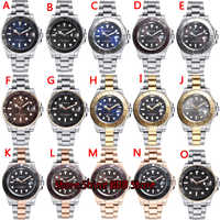 Parnis Automatic Watch Diver Swim Waterproof 21 Jewel Miyota8215 Movement Mechanical Watches with Leather Metal Strap Men's Gift