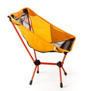 Image 2 - สวน Gaming Ultra Light เก้าอี้แบบพกพาที่นั่งสีเหลืองน้ำหนักเบาเก้าอี้ตกปลา Camping เก้าอี้พับกลางแจ้งเฟอร์นิเจอร์ 7075