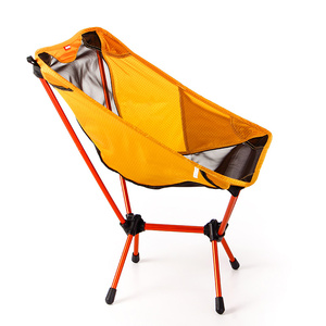 Image 2 - Sillas ultraligeras para juegos de jardín asiento amarillo portátil, silla de pesca ligera, taburete de Camping, muebles plegables para exteriores 7075