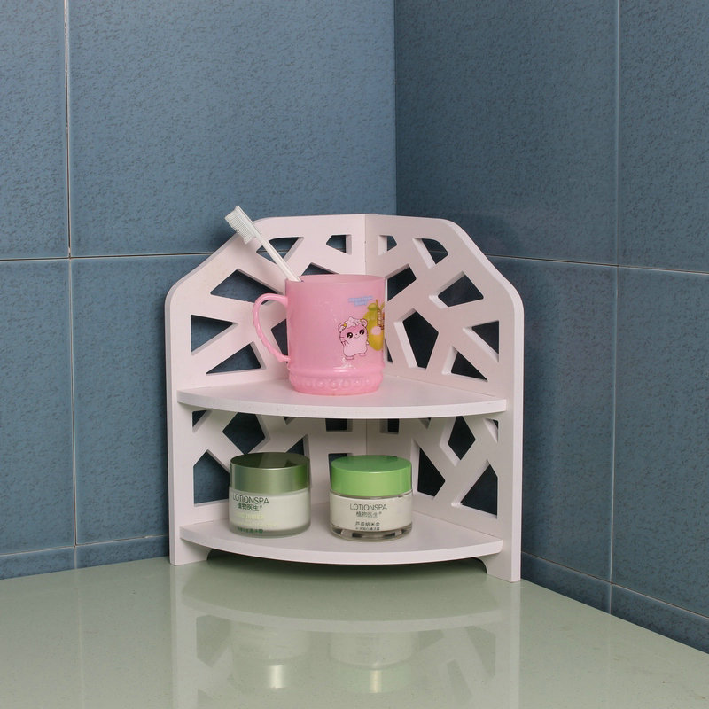 Creative home corner shelf bathroom small bathroom storage rack ...