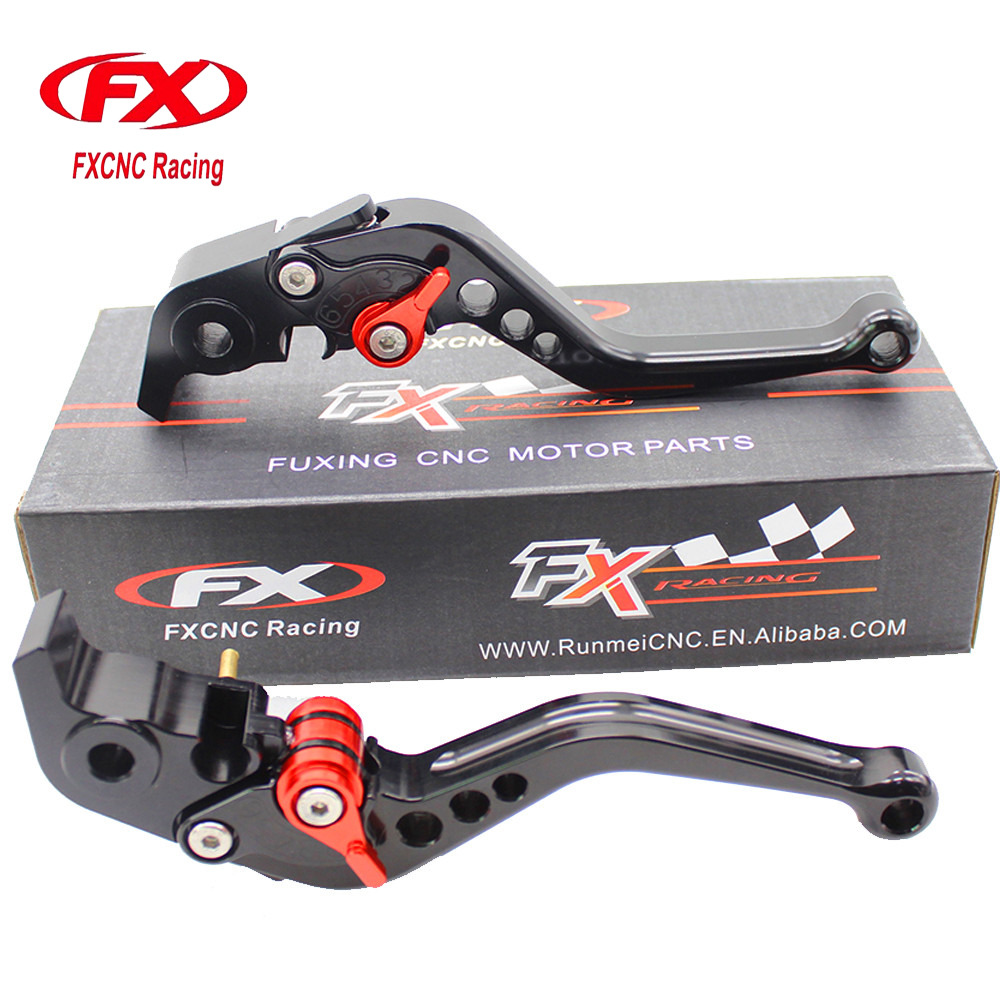 FXCNC Aluminum Adjustable Motorcycles Brake Clutch Levers For Aprilia RSV MILLE R 2004-2008 For Kawasaki H2 H2R 2015-2017 regular short fxcnc aluminum moto motorcycles brake clutch levers for kawasaki zephyr 1100 all years brake clutch lever