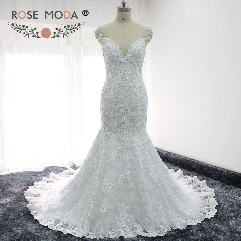 Rose Moda Gorgeous Off Shoulder Lace Mermaid Wedding Dress