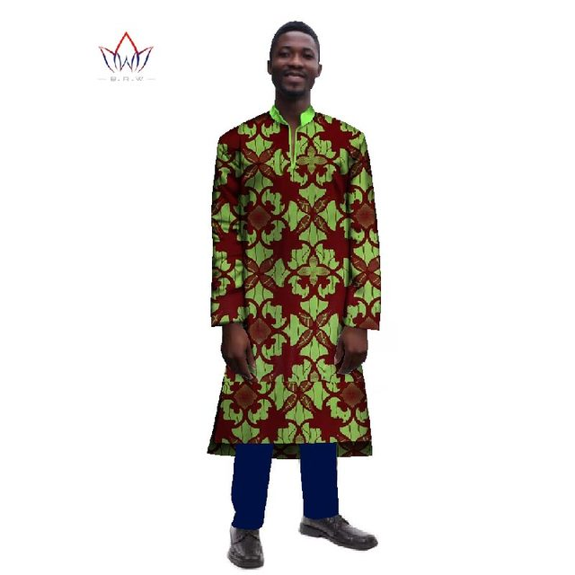 92b08698ae5 African Dreeses for Men Long Sleeve Mens Robes Traditional African Clothing  Dashiki Men Clothes Plus Size 6XL BRW WYN241