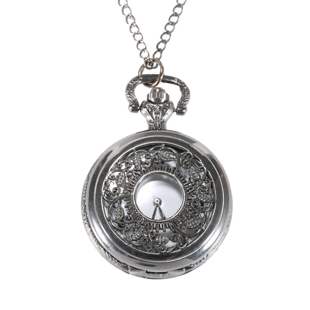 2017 Hot Sell Quartz Pocket Watch Fob Watches Vintage Hollow Necklace Pendant Retro Clock With Chain Gifts LL@17 retro steampunk bronze pocket watch eagle wings hollow quartz fob watch necklace pendant chain antique clock men women gift