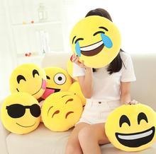 Cute Creative Smiley Emoji Pillow Soft Stuffed Plush Round Emoticon  Cushion Toy Doll  Gift Home Decor  Throw Pillow