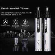 3 1 şarj edilebilir kulak burun düzeltici elektrikli tıraş makinesi sakal kaş burun kulak saç kesme makası epilasyon tıraş makinesi akülü