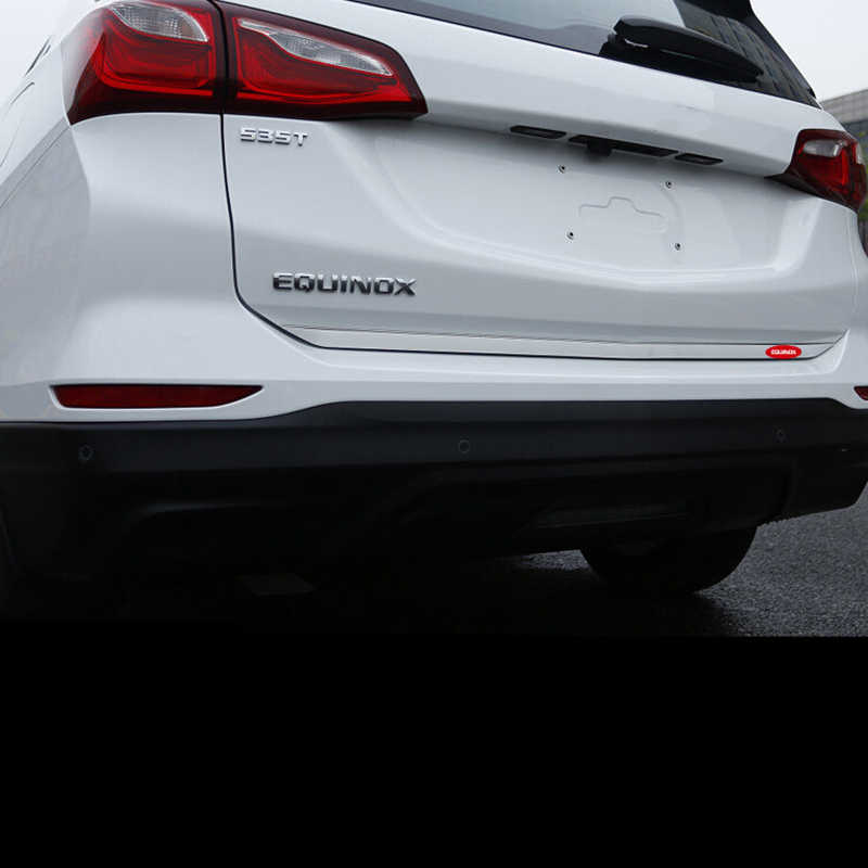 Bendable Stainless Steel Rear Tailgate Lid Bottom Strip Trim For Chevrolet Chevy Equinox 2018