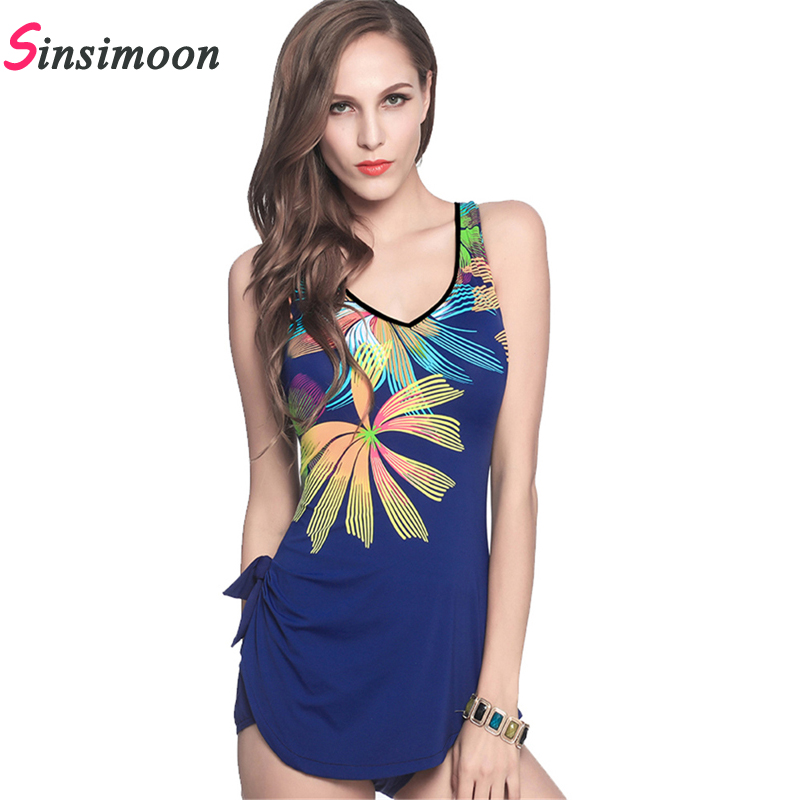 Floral Print Plus size Swimsuit Women Sexy Retro Vintage Bathing suit One Piece Swimwear Female Bodysuit One-piece Beach wear aleumdr new 2017 plus size women bodysuit swimsuit print one piece monokini beach wear swimwear sexy bathing suits 410071