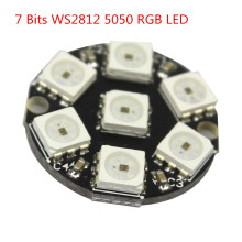 Free shipping 7 Bits 7 X WS2812 5050 RGB LED Ring Lamp Light with Integrated Drivers