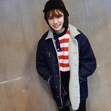 Nice New Fashion Women s Winter Jacket Loose Warm Women Denim Jacket Long Thicker Winter Jacket