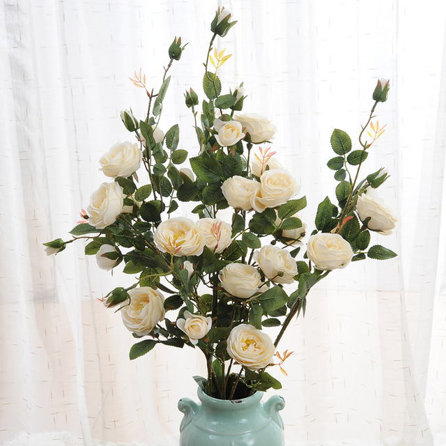 96cm high quality 6 heads french rose flower simulation artificial 96cm high quality 6 heads french rose flower simulation artificial wedding decoration plant silk flower crafts mightylinksfo