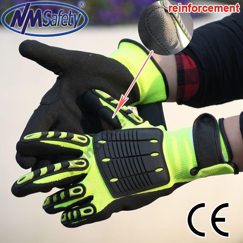 NMSafety Anti Vibration Working Isolation Gloves anti impact Mechanic Gloves 2017 nmsafety anti vibration working gloves vibration and shock gloves anti impact mechanics workgloves