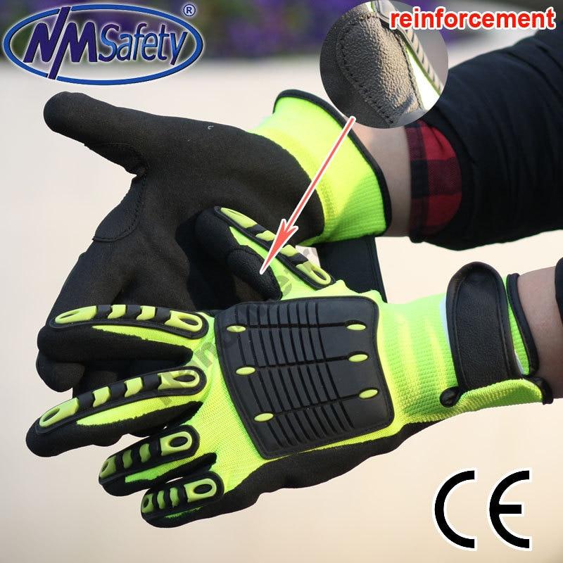 NMSafety Anti <font><b>Vibration</b></font> Working Isolation Gloves anti impact <font><b>Mechanic</b></font> Gloves