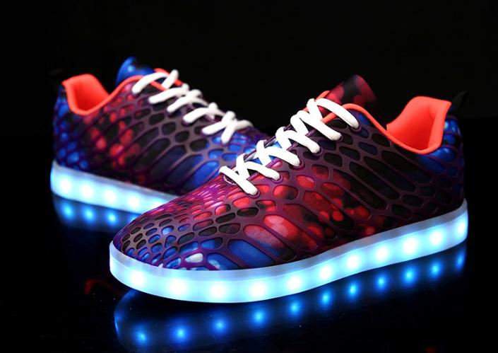 Children LED Luminous shoes Boys Girls 2017 Autumn Winter fashion USB Charging lighted shoes student casual glowing sneakers