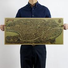Vintage Large The Ancient Rome Map Poster Detailed Antique 72x32cm Kraft Paper Poster Decoration Magazines Free