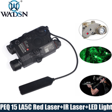 WADSN Airsoft LA-5 Red Lazer IR Laser LED Flashlight UHP Appearance IR laser PEQ 15 LA5C red lazer Tactical Weapon Light WEX396 element peq 15 la 5c uhp appearance red