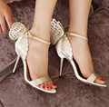 New Sophia Webster Women Sandals Sexy Butterfly Bowtie Open Toe High Heels Wedding Dress Pumps Brand Design Women Shoes