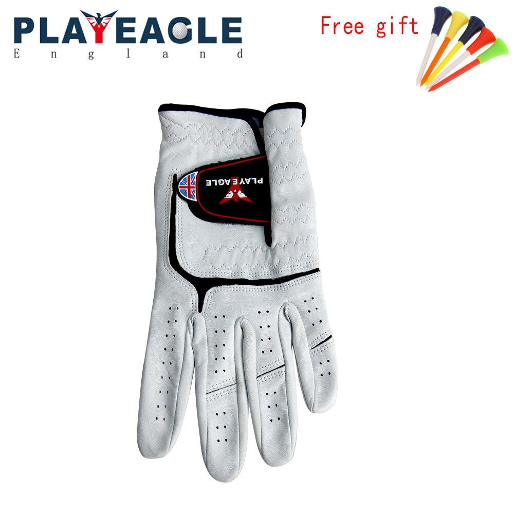 2018 PLAYEAGLE Full Soft Genuine Sheepsink Golf Glove Breathable Left Hand Leather Golf Sports Gloves Glove