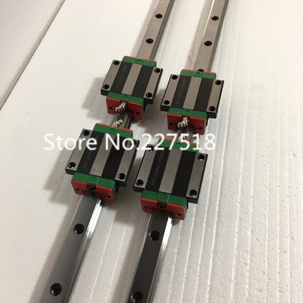 25mm Type 2pcs  HGR25 Linear Guide Rail L900mm rail + 4pcs carriage Block HGW25CC blocks for cnc router tbi 2pcs trh20 1000mm linear guide rail 4pcs trh20fe linear block for cnc