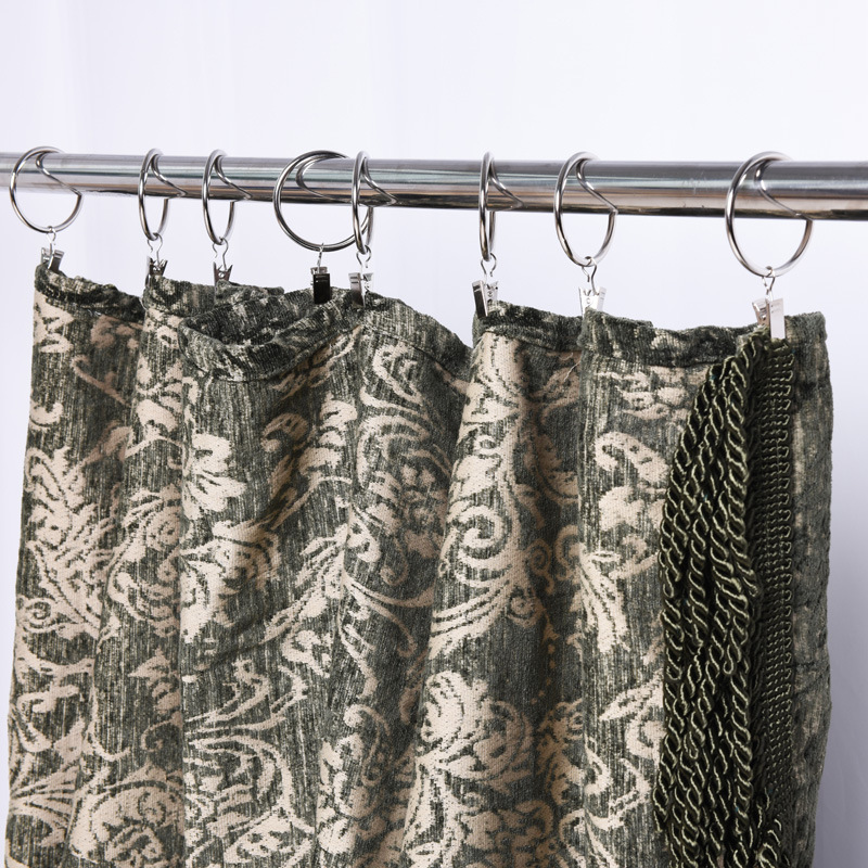 "Black Wrought Iron Curtain Drapery Rod+hks Scroll End Adj 38/""-62/"" Large USA Made"
