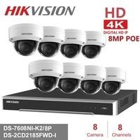 8 kanalen Hikvision POE NVR Video Surveillance Kits met 8MP IP Camera Netwerk Beveiliging Nachtzicht CCTV Security System Kits