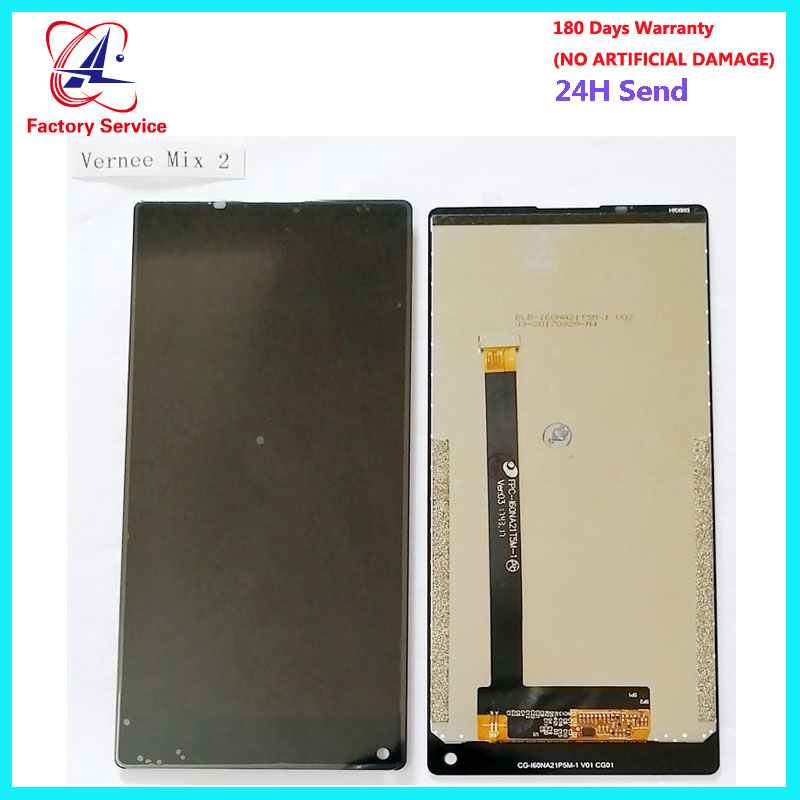 6.0 inch For 100% Original Vernee Mix 2 LCD Display + Touch Screen Digitizer Assembly Replacement For Vernee Mix 2 Phone LCD