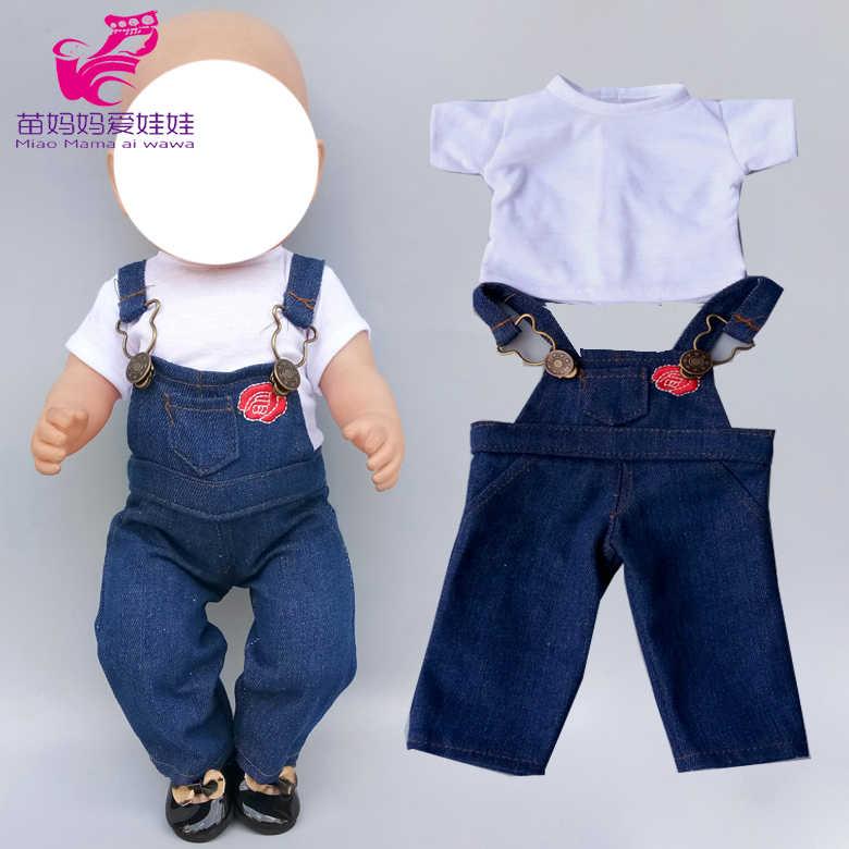 """17 インチベビードールの服パンツシャツのための 18 """"45 センチメートルアメリカン人形 og 衣装おもちゃ人形服"""