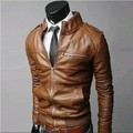 Free shipping autumn and winter 2016 men's new men's leather Slim machine wagon jacket collar jacket