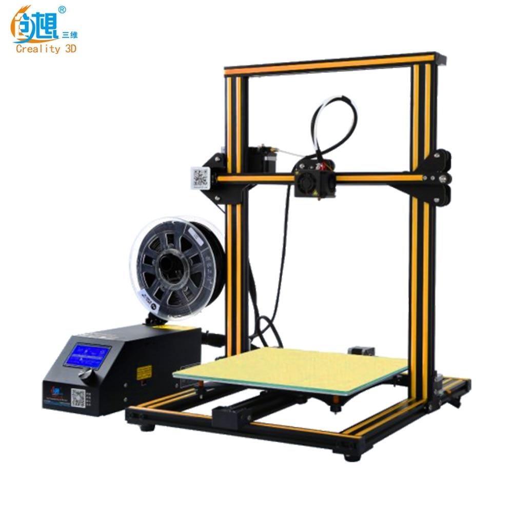 Grande vente ordinateur portable Creality 3D imprimante CR-10 entièrement assemblé Plus taille d'impression 300*300*400 MM 3D imprimante kit de bricolage avec carte SD