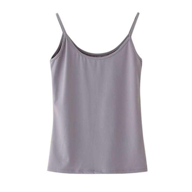Hot 2019 Sexy Girl Sleeveless Cami O-neck Slim Tops Summer Tank Top Fitness Women T Shirt Fashion Woman Clothes