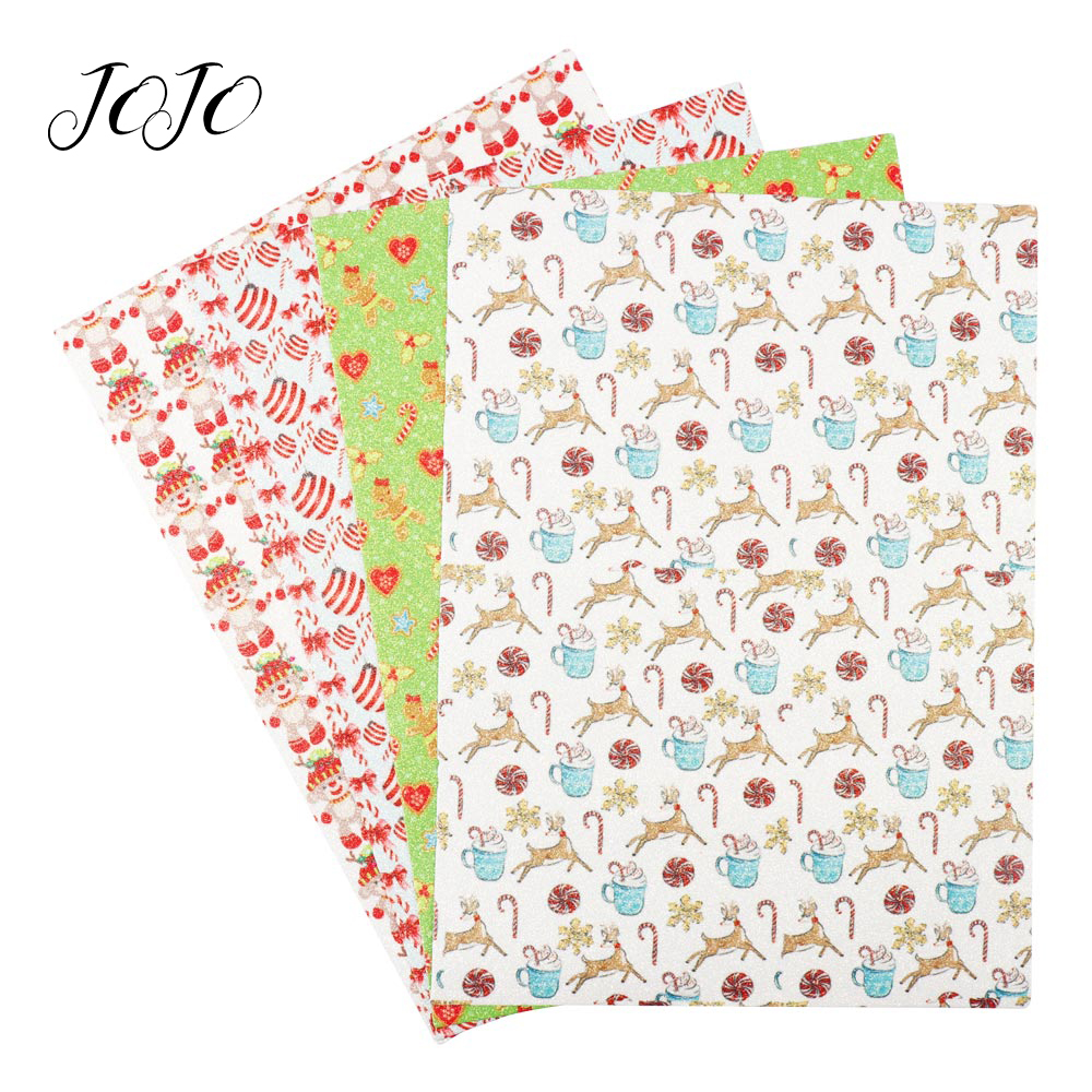 JOJO BOWS 22 30cm Thin Glitter Fabric For Dress Printed Sheets For Clothing Needlework Materials Garment Sewing Cloth DIY Crafts in Fabric from Home Garden