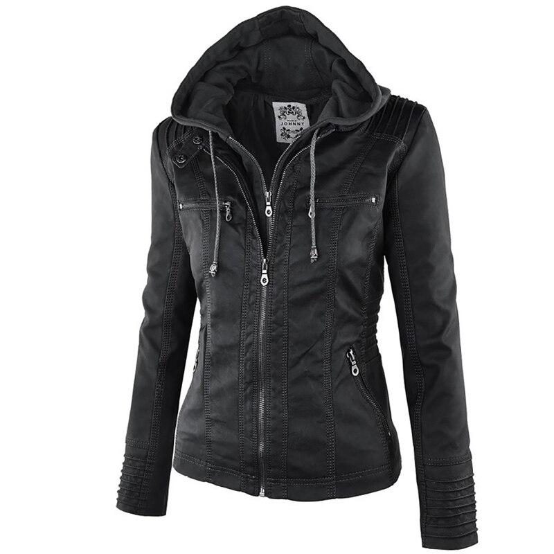 Winter Faux Leather Jacket Waterproof Windproof Coats 12