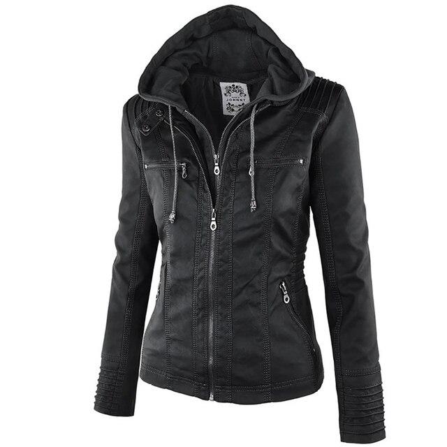 Winter Faux Leather Jacket Waterproof Windproof Coats 5