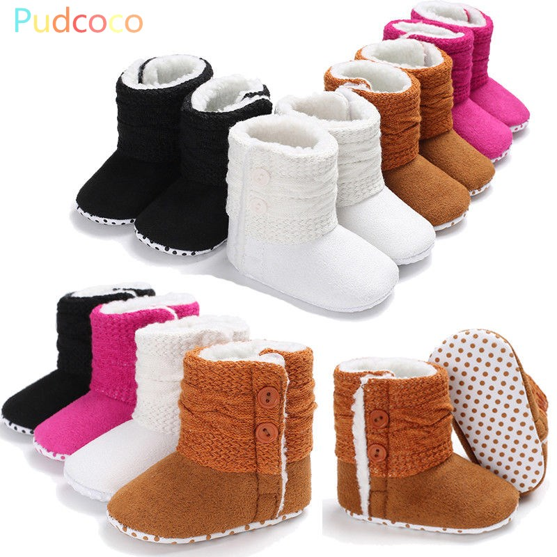 Baby Girl Newborn Winter Warm Boots Toddler Infant Soft Sole Shoes