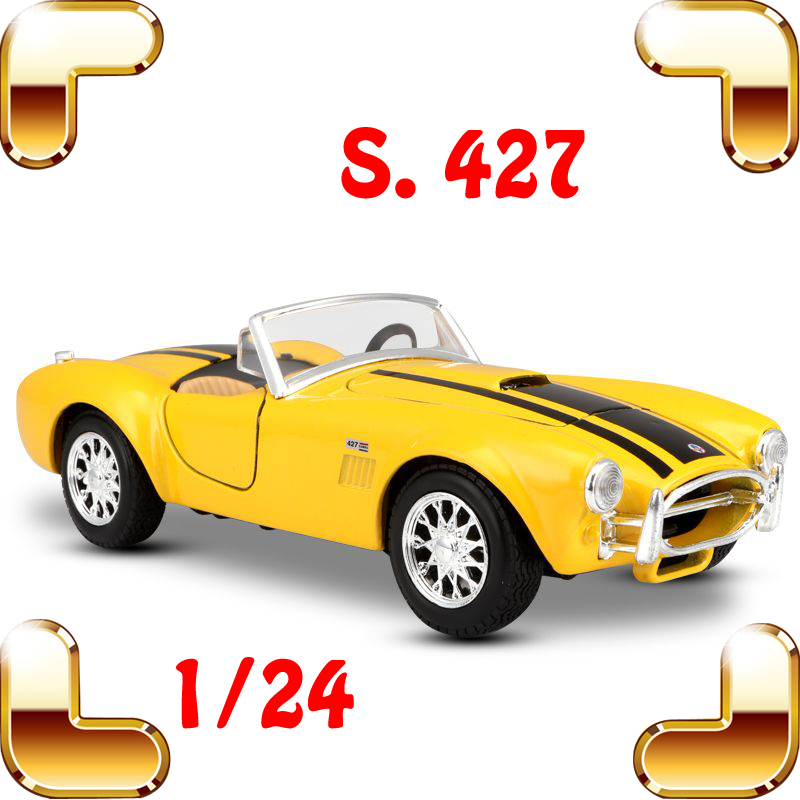 New Year Gift 427 1/24 Alloy Model Classic Car Model Scale Simulation Toys In House Decoration Window  Display Diecast Vehicle maisto jeep wrangler rubicon fire engine 1 18 scale alloy model metal diecast car toys high quality collection kids toys gift