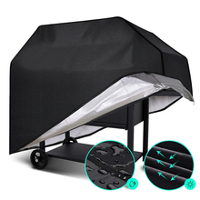 Waterproof BBQ Grill Cover Barbeque Cover Anti Dust Rain UV For Gas Charcoal Electric Barbe Barbecue Accessories Outdoor Garden