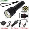 T6 COB LED Flashlight Torch Light Super Bright Charger SET Free Shipping NO11
