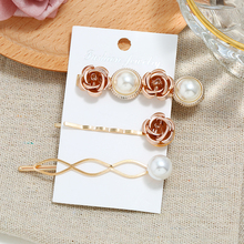Bohopan 3PCS/Set Elegant Flower Hair Clips Set Exquisite Pearl Alloy Pins For Women Fashion Female Luxury Accessories