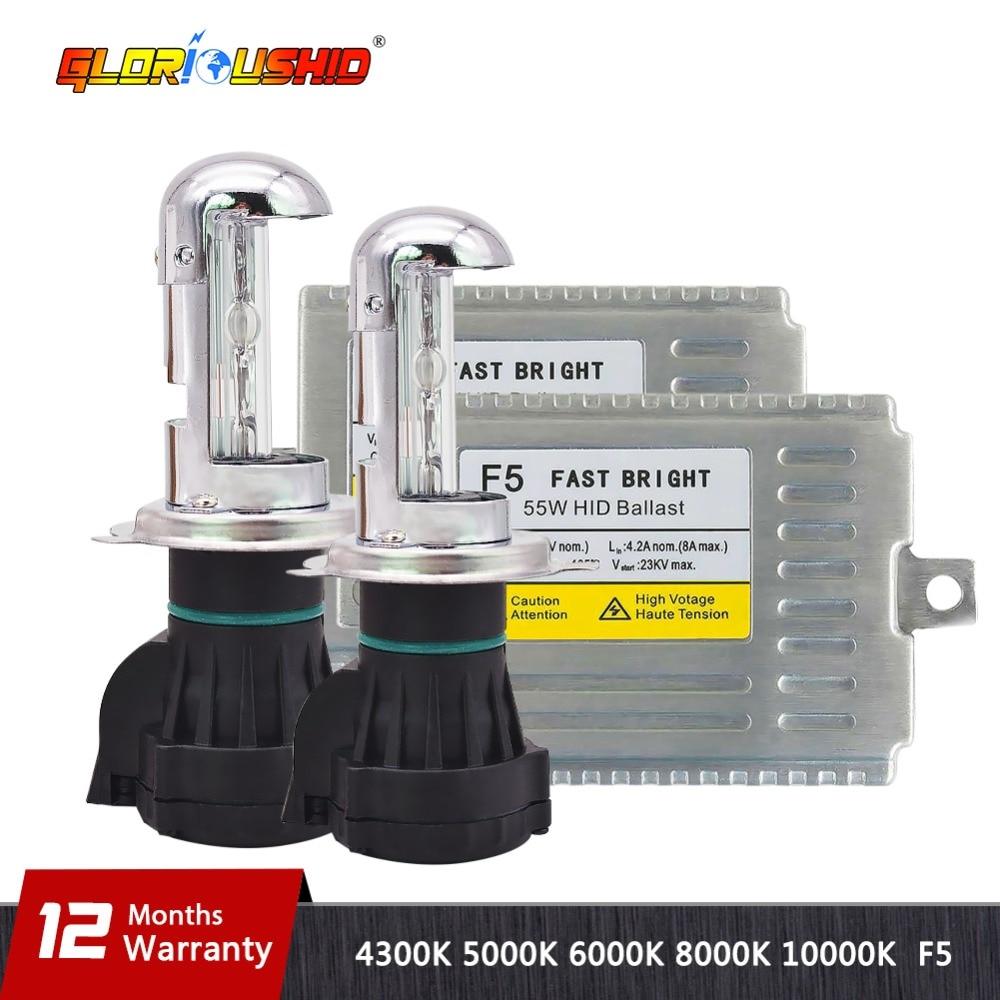 55W Fast Xenon Kit 55W H4-3 H13-3 9004/9007 XENON HID ΛΑΜΠΑ KIT - Φώτα αυτοκινήτων - Φωτογραφία 1