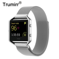 23mm Milanese Loop Band For Fitbit Blaze Smart Fitness Watch Stainless Steel Magnetic Closure Bracelet Replacement