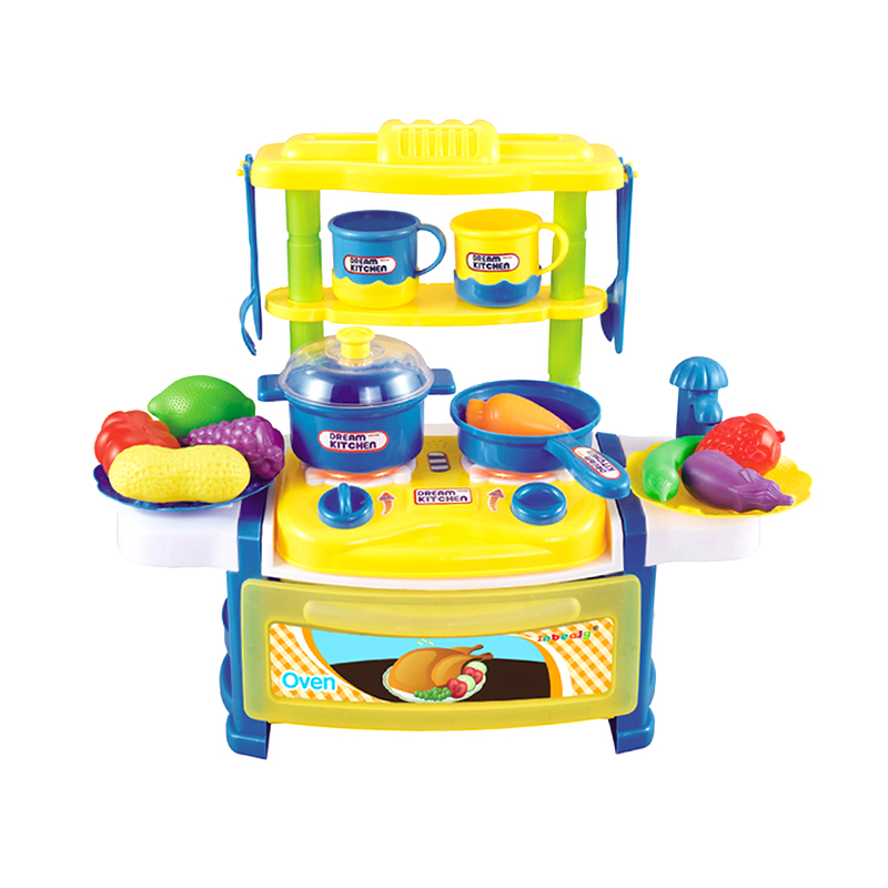 Kids Kitchen Toys Pretend Play Cooking Toys Tableware Sets Baby Kitchen Cooking Simulation Model Happy Pretend Play Toys Pretend Play