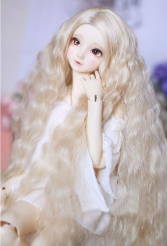 NEW Grace Noble Pink/Golden/Gray/Brown Wavy Long Hair 1/3 22-24cm BJD DD SD Doll Wig