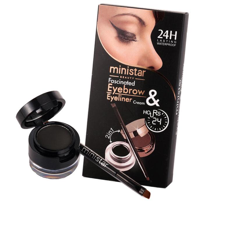 Ministar Professional Eyes Makeup Gel Eyeliner And Eyebrow Powder