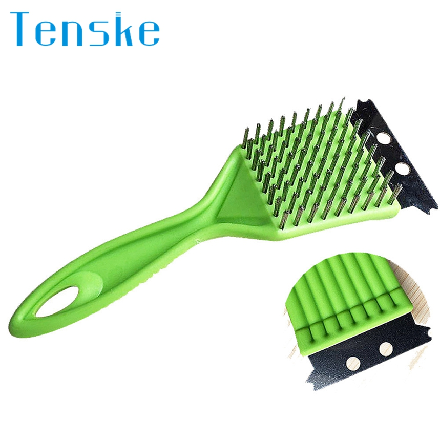 TENSKE Top Grand Stainless Steel Grill Steam BBQ Cleaning Cleaner Brush Barbecue Cooking Tool 1Pc Dropship